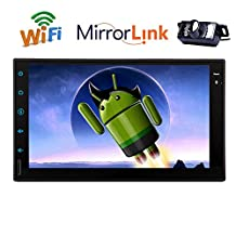EINCAR 1024*600 Resolution 7 Inch GPS Navigation Capacitive Touchscreen Android 5.1 Quad Core Double 2 Din Car Radio Stereo Head Unit Autoradio Bluetooth/OBD/1080p/3G/4G/WiFi +Free backup camera(NO-DVD player)
