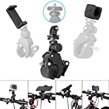 Fantaseal Action Camera + Smartphone + Flashlight + Waterproof Camera 4-in-1 Fast Bike Clamp Mount Bicycle Holder Mount Handlebar Mount Bike Fork Mount for GoPro iPhone Nikon Canon Camera Bike Mount