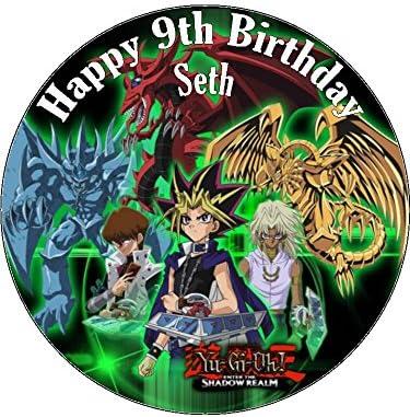 Super 7 5 Yu Gi Oh Edible Icing Birthday Cake Topper Yugioh Amazon Co Funny Birthday Cards Online Hendilapandamsfinfo