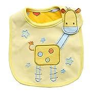DierCosy Lovely Cute Cartoon Pattern Toddler Baby Waterproof Saliva Towel Baby Bib (Giraffe)