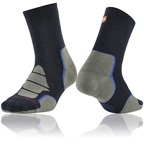 Hiking Socks Men, ZEALWOOD Moisture Wicking Soft Warm Dri Fit Cuhsion Running Outdoor Hiking Wick Dry Ultra-Lightweight Merino Wool Liner Socks Valentines Day Gifts Blue Grey