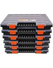 Set van 6 sorteerdorzen met naar wens verdeelbare scheidingsvakken, voor gereedschap en andere kleine onderdelen, circa 399 x 303 x 50 mm