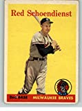 1958 Topps #190 Red Schoendienst Braves VG 334340 Kit Young Cards