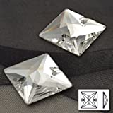 16mm Crystal Square Sew-on Stone by 10pcs, Crystal, DON-3068