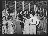 Fais-do-do near Crowley, Louisiana. These are gatherings of local country people usually of French origin who are clannish. Very few outsiders are present at these dances. Sections of the hall are reserved for the different sexes. They are usually attende