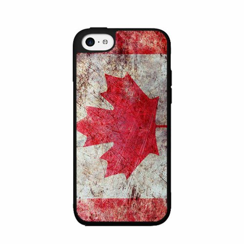 BleuReign(TM) Rustic Canada Flag - TPU Rubber Silicone Phone Case Back Cover (iPhone 5 5s and iPhone SE)