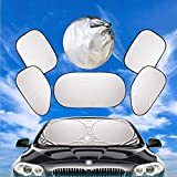 Car Sun Shade Car Windshield Sun Shade Folding Silvering Reflective Car Window Sun Shade Visor Shield Cover