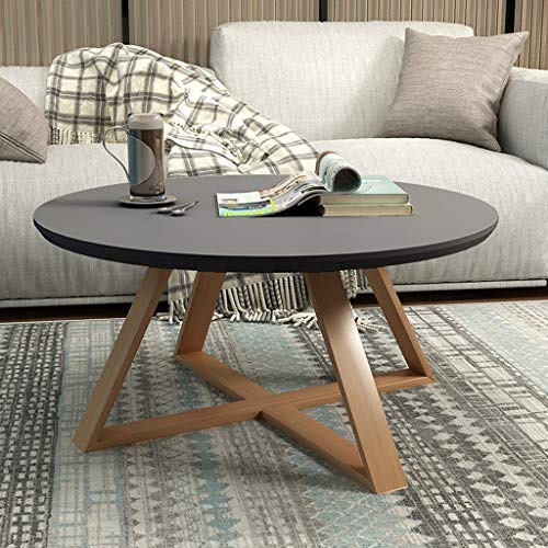 Round Cabinet Table End (DTY Cabinet Nordic Minimalist Round Coffee Table, Mini Tea/Side Table Creative Small Apartment Living Room Wooden Tables (Color : Gray, Size : 606045cm))