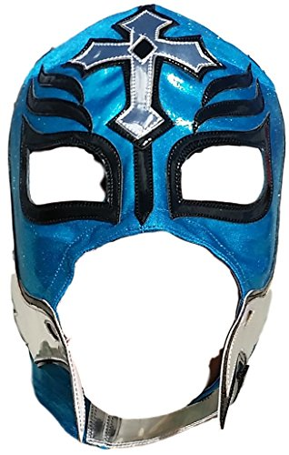 Rey Mysterio Blue Costume (Rey Mysterio Professional Lucha Libre Mask Adult Size)