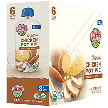 Earth's Best Organic Stage 3 Baby Food, Chicken Pot Pie Dinner, Non Gmo Ingredients, 4 Grams Of Protein, 3.5 Oz Resealable Pouch (Pack Of 6) 11
