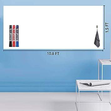 Office School Self Adhesive Whiteboard Dry Wipe Drawing Board Sticker Marker Pen