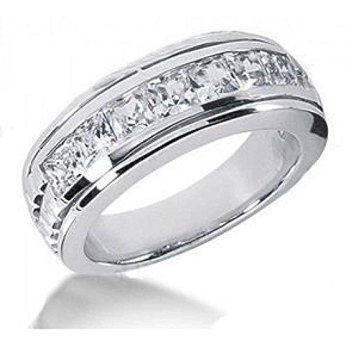 Men's 1.00 ct. TW Princess Cut Diamond Wedding Band Ct Tw Princess Diamonds Band