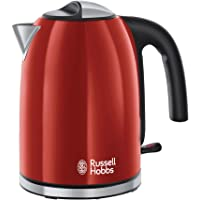Russell Hobbs Colours Plus+ Flame Red Waterkoker Rood (1,7L), Snelkookfunctie, Zuinig, 2400 Watt, RVS, Hoogglans…