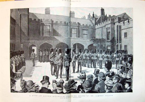 1890 Popular London Spectacle Changing Guard St. James'S Palace L - Spectacles London