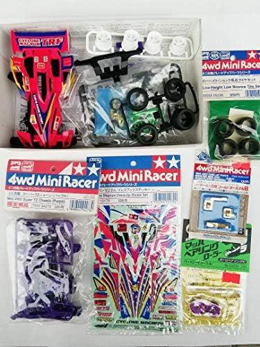 タミヤ ミニ四駆 サイクロンマグナムTRF ピンク塗装 パープルシャーシ