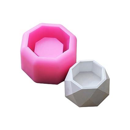Househome - Molde de silicona para jabón, 3D suculento, para plantas, macetas,