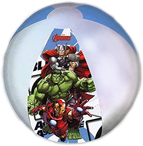 Childrens Avengers Inflatable Beach Ball Official Marvel 45cm Pool Toy by Disney Avengers