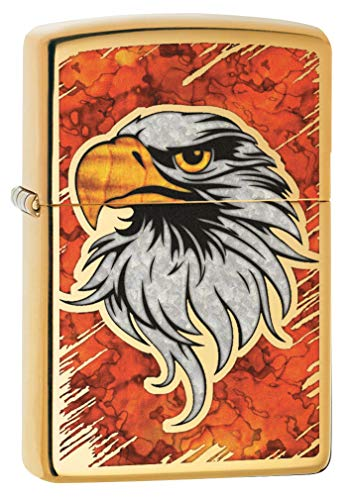 Zippo Lighter: Fusion Bald Eagle - High Polish Brass 79794 ()