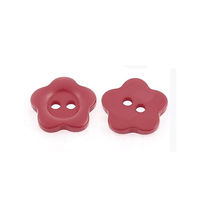 Amazon.com: eDealMax Flor del ciruelo Diseño Abrigo botones de costura del arte 50pcs Rojo: Home & Kitchen