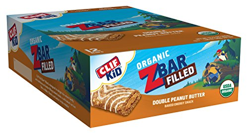 Clif Kid ZBAR Filled - Organic Energy Bar - Double Peanut Butter (1.06 Ounce Snack Bar, 12 Count) (Packaging May Vary)