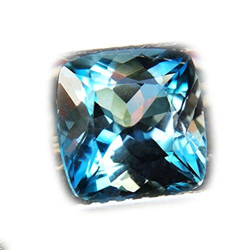 Lovemom 2.70ct Natural Cushion Irradiation London Blue Topaz Brazil #W