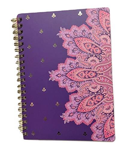 Carolina Pad Studio C College Ruled Foil Cover Spiral Notebook ~ Taj Mahal (Plum, Purples and Pinks; 5