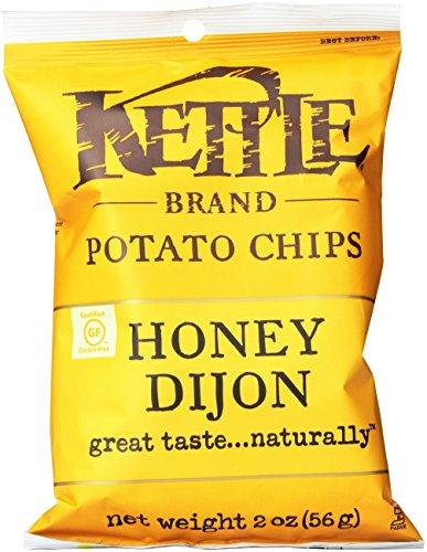 Kettle Brand Potato Chips, Honey Dijon, 2-Ounce Ba…