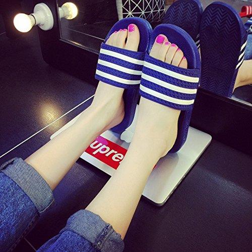 fankou soggiorno le blue cool attuali sandali anti uomini traspirante 40 Estate slittamento pantofole spesso coppie rwqgYS1rx