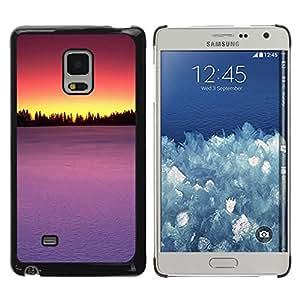 Caucho caso de Shell duro de la cubierta de accesorios de protección BY RAYDREAMMM - Samsung Galaxy Mega 5.8 - Sunset Beautiful Nature 75