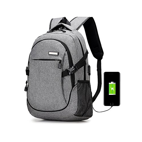 Rrtizan 15.6 inch laptop backpack with usb port,casual lightweight waterproof for school