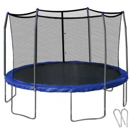 Skywalker Trampolines 14' Round Trampoline and Enclosure with Wind...