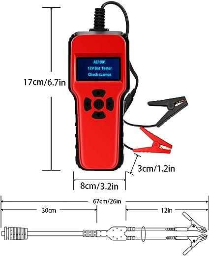 Welltop Batterietester Professional 6 18v 100 1700 Cca 200ah Automotive Batterie Belastungstest Testgerät Digital Analyzer Batteriezustand Test Tool Für Auto Boot Motorrad Und Mehr Auto
