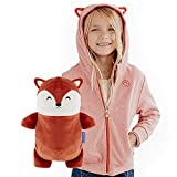 Cubcoats Flynn The Fox - 2-in-1 Transforming Hoodie & Soft Plushie - Burnt Orange