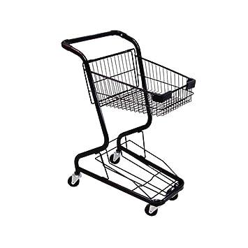 Carro de la Compra del supermercado del Marco metálico, Ruedas del eslabón Giratorio 360 ° Carro ...