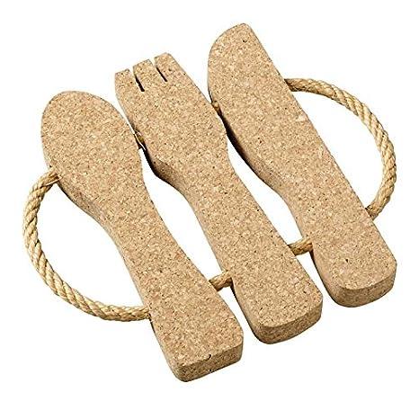 Viking de corcho Woodware - salvamanteles con cuerda cubertería: Amazon.es: Hogar