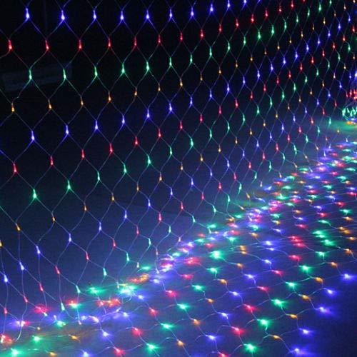 FROADP 3x2m LED Impermeable Net Lights Malla Cortina Luces para el Árbol de Navidad Cumpleaños Decoraciones de Boda de Halloween (Coloridas)