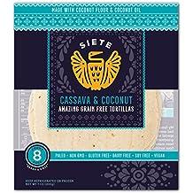 Siete Cassava & Coconut Tortillas, 8 Tortillas per pack (6-Pack)