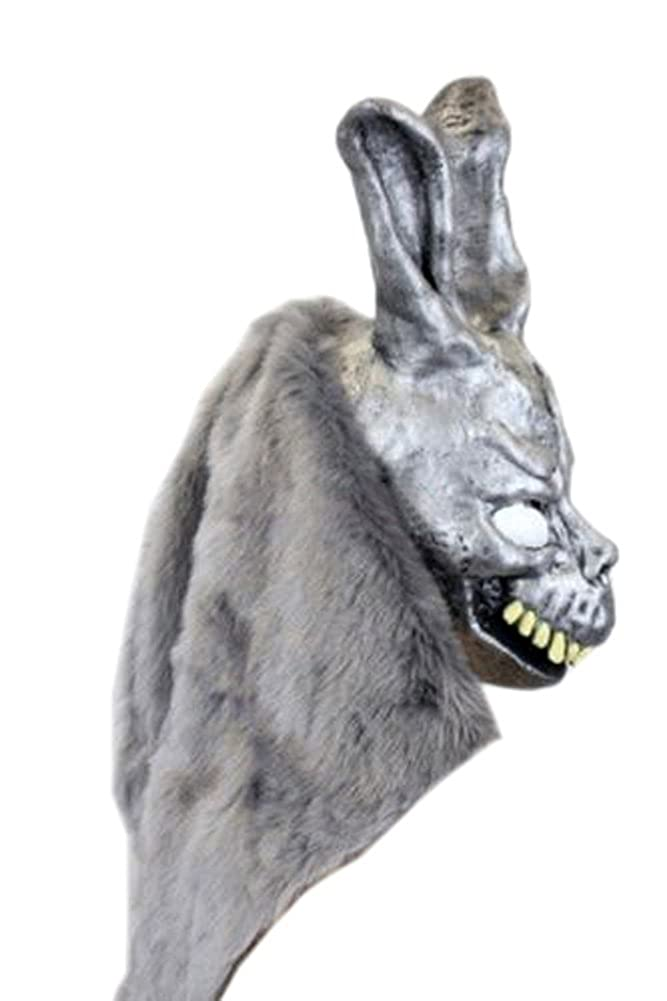 Amazon.com: Donnie Darko Frank the Bunny Mask Latex Overhead with Fur Adult Costume: Clothing