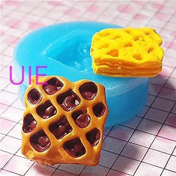 030lbg Kawaii Cute Baked miel queso rojo Bean Chocolate Fondant de postre de pan molde de silicona para decoración de dulces Chocolate jabón epoxi arcilla ...