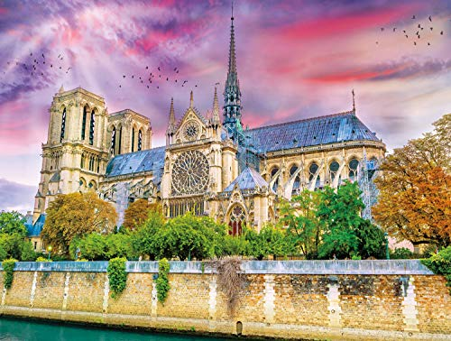 Game Dame Notre - Buffalo Games - Castles Collection - Cathedrale Notre-Dame - 750 Piece Jigsaw Puzzle
