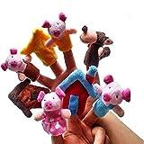 Edealing Les Trois Petits Cochons histoire Finger Puppets drôle en peluche Poupées Family Story enfants Jeux bébé Pack Of 8