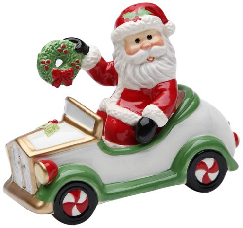 Cosmos Gifts 10663 Santa in Car Salt and Pepper Set, 3-1/2-Inch