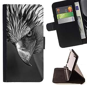 Jordan Colourful Shop - Hawk Beak Eye Intense Black White For Apple Iphone 6 - Leather Case Absorci???¡¯???€????€?????????