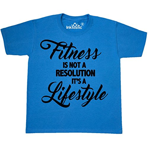 inktastic Fitness is Not a Youth T-Shirt Youth X-Large (18-20) Pacific Blue