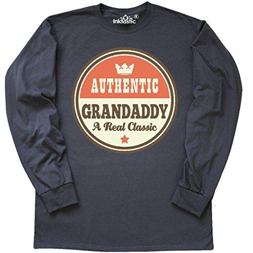 Father Long Sleeve T-shirt (inktastic Grandaddy Vintage Fathers Long Sleeve T-Shirt X-Large Charcoal Grey)