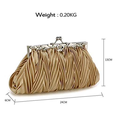 Purses Bag Cw98 Handbags Nude Bridal Wedding Leahward Evening Bags Ladies Womens Satin Clutch qPyHBzZt