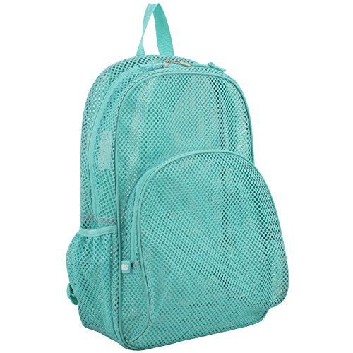 Eastsport Mesh Backpack with Padded Shoulder Straps, Turquoise