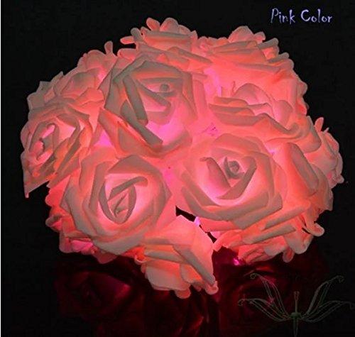 Flower Fairies Masks (LED Night Light Rose Flower Fairy String Lights Children's Nightlight Garden Party Christmas Decoration Nightlight)