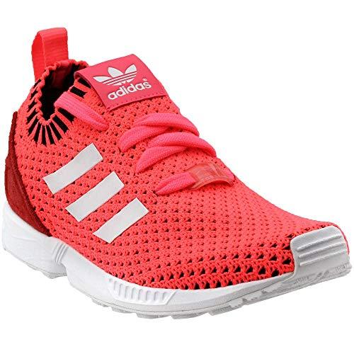 adidas Originals Girls' ZX Flux PK J Running Shoe, Turbo White/Black, 6 M US Big Kid