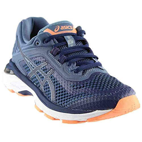1663617498 ASICS Women's GT-2000 6 Running Shoe, Indigo Blue/Indigo Blue/Smoke Blue, 5  XW US